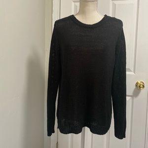Forever 21 black knit oversized sweater